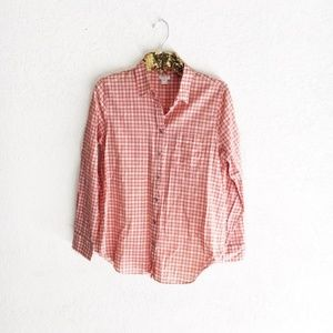 J. Crew Gingham Classic Button-Down Perfect Shirt